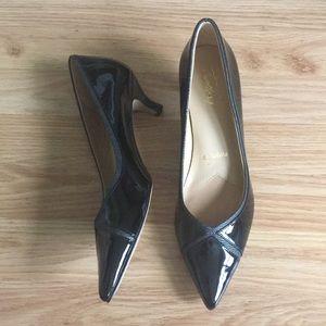 Black Patent Trotter's Heels - 9N